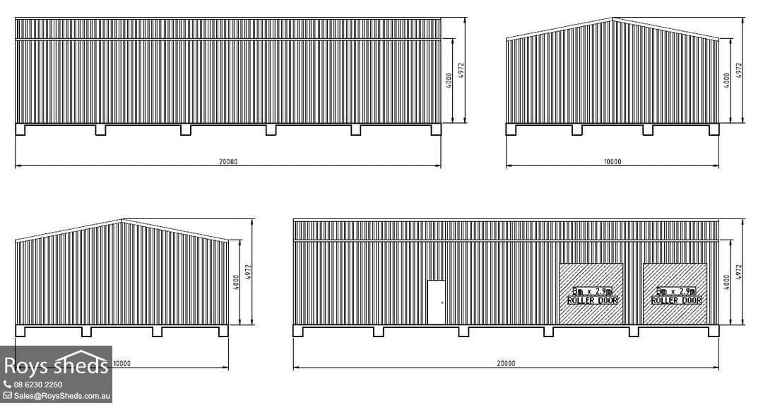 10x20 Garage Workshop Shed Built in Banjup - Roys Sheds