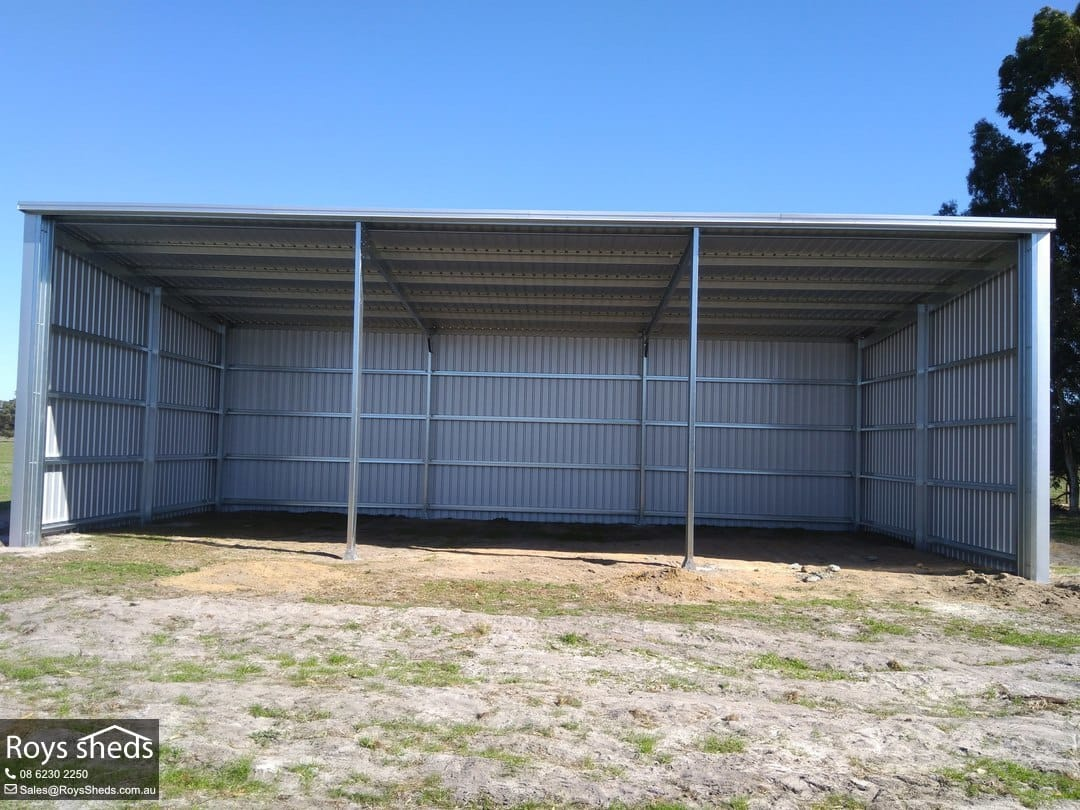 7.5x15 Skillion Hay Shed Built in Coolup - Roys Sheds