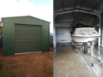Boat Storage Shed X X Merriwa Thumb   8m X 5m X 3.4m Boat Storage Shed Merriwa   Supplied and Build by Roys Sheds