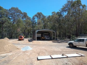 Shed X X Mt Helena Thumb   12m X 8m X 4m Shed Mt Helena   Supplied and Build by Roys Sheds