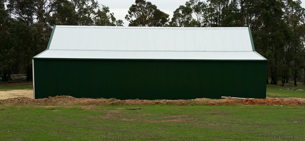 Australian Barn - Chittering - Supplied and Build by Roys Sheds