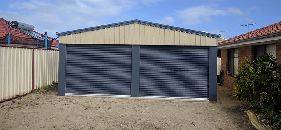 Garage - Chittering - Supplied and Build by Roys Sheds