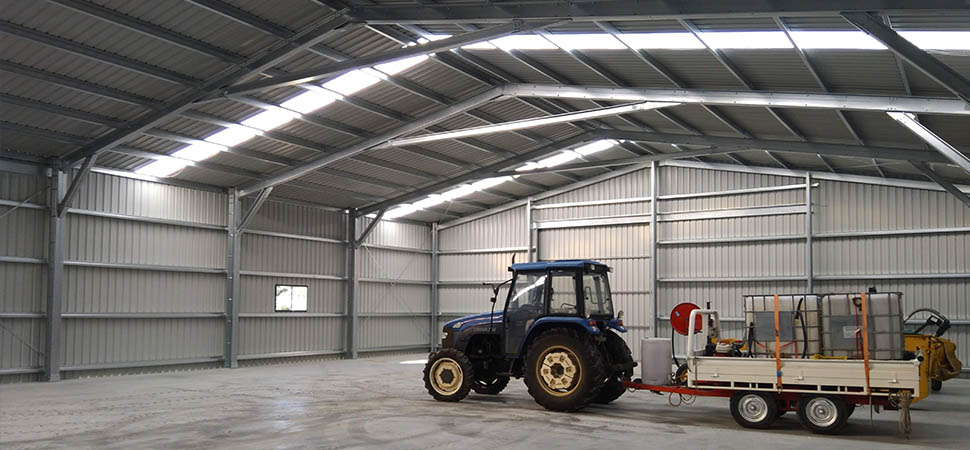 Large Commercial Shed - Medina - Supplied and Build by Roys Sheds