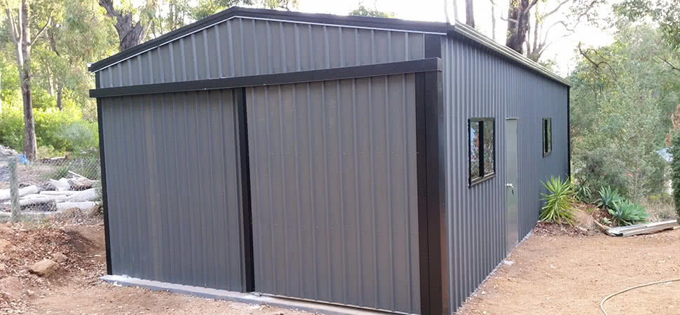 Single Sliding Door - Chittering - Supplied and Build by Roys Sheds