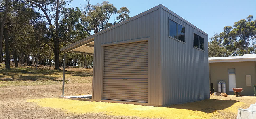 Skillion Awning - Medina - Supplied and Build by Roys Sheds