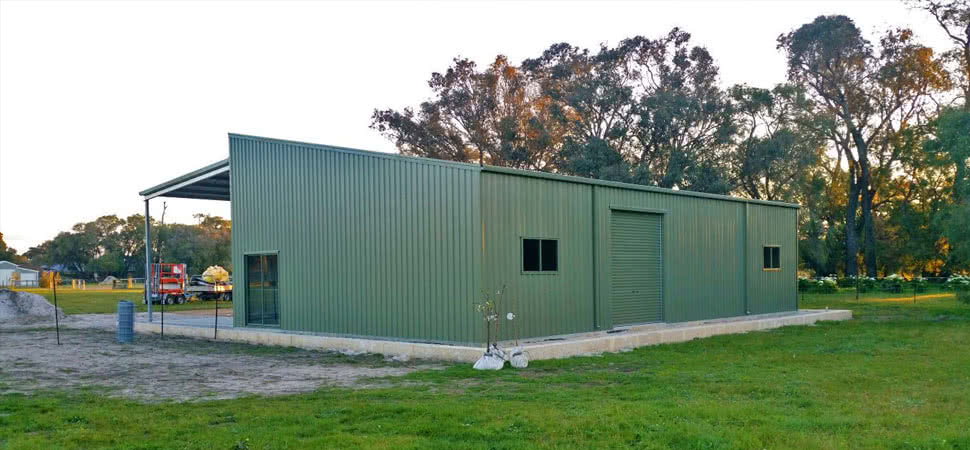 Skillion Roof - Medina - Supplied and Build by Roys Sheds