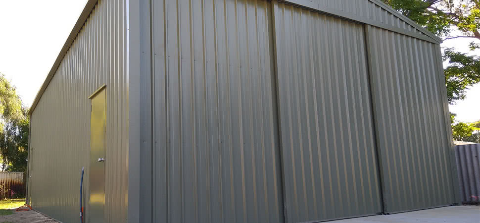 Triple Sliding Door Shed - Chittering - Supplied and Build by Roys Sheds