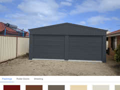Colour Visualiser Double Garage Sinagra X X   Online Shed Colour Visualiser   Supplied and Build by Roys Sheds