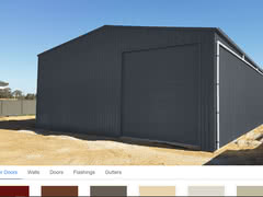 Colour Visualiser Large Residential Workshop X X   Online Shed Colour Visualiser   Supplied and Build by Roys Sheds