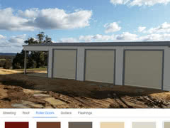 Colour Visualiser Tripple Roller Door Garaport   Online Shed Colour Visualiser   Supplied and Build by Roys Sheds