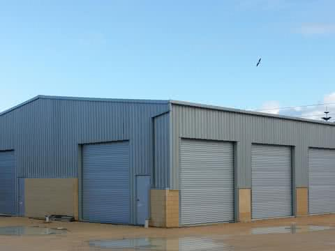 Garage   Commercial   Supplied and Build by Roys Sheds