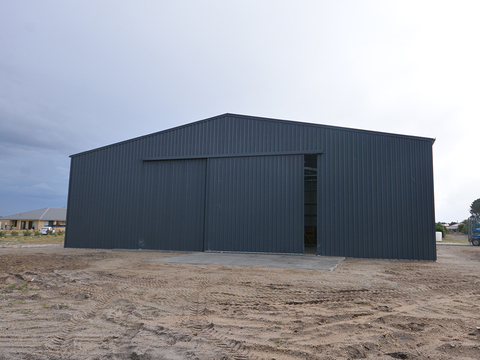 Large Commercial Shed   Light Aircraft Hanger   Supplied and Build by Roys Sheds
