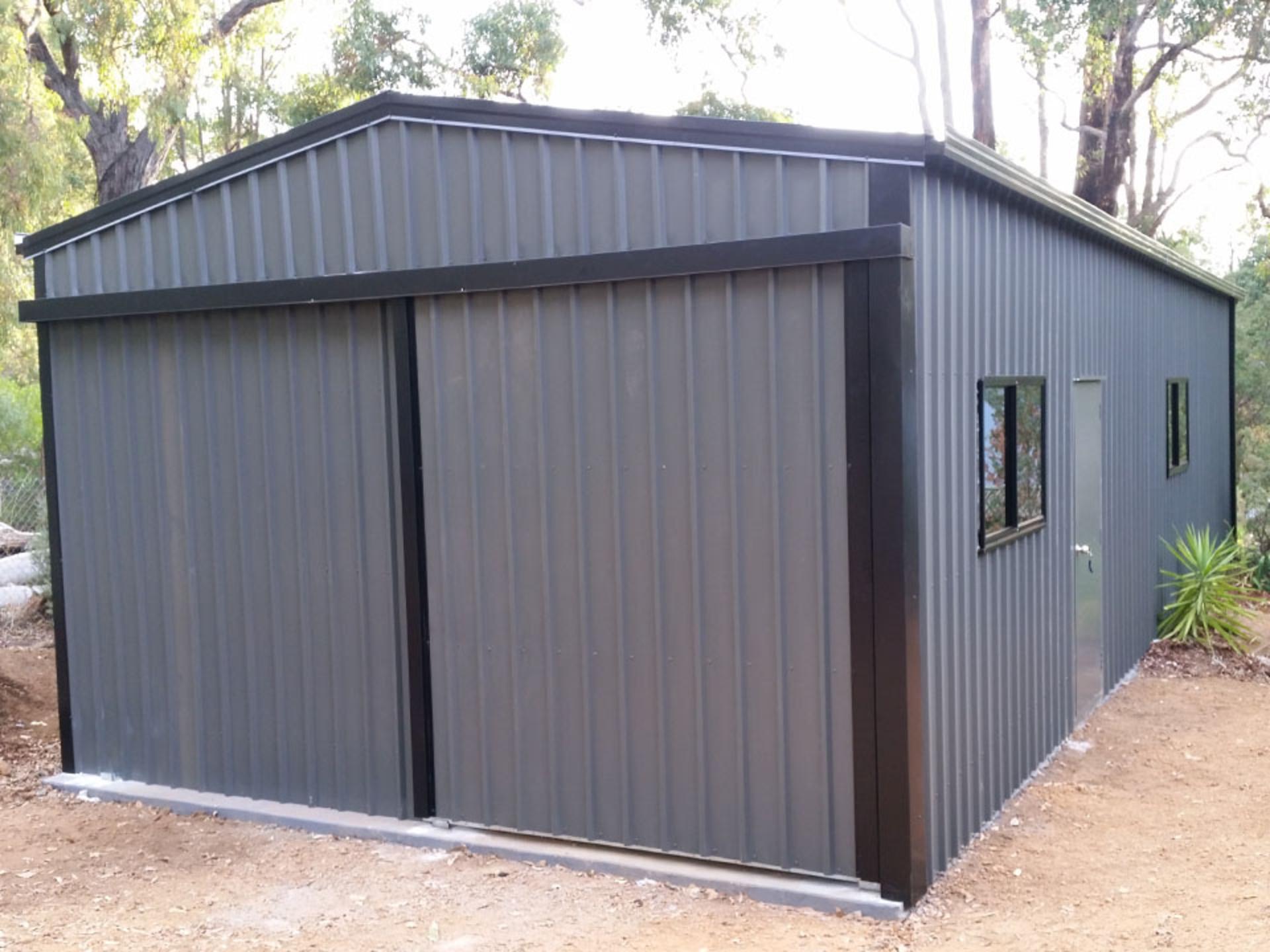 single sliding door shed - roys sheds