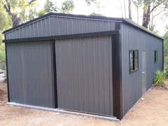 Single Sliding Door Shed   Residential   Supplied and Build by Roys Sheds