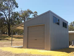 Skillion Awning   Residential   Supplied and Build by Roys Sheds