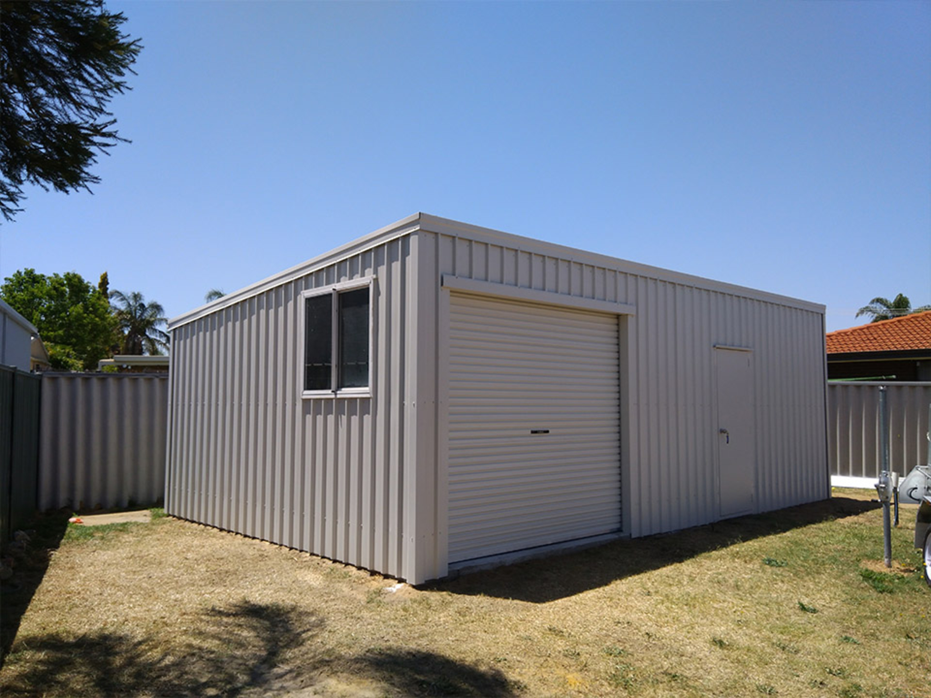 Skillion Roof Garage Kits Supplied And Built In Perth Wa