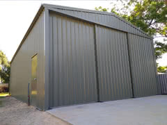 Triple Sliding Door Shed   Residential   Supplied and Build by Roys Sheds